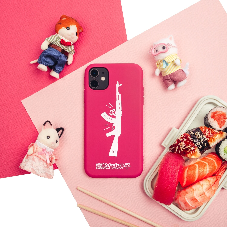 """Чехол для iPhone """"AK47"""" цвет Bubble Gum"""