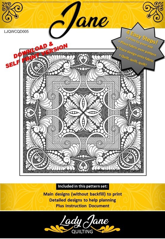 WHOLE CLOTH QUILT DESIGN JANE