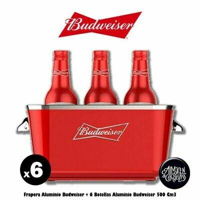 Frapera Budweiser + 6 Bot Aluminio