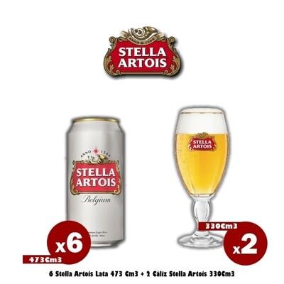 2 Cáliz + 6 Latas Stella