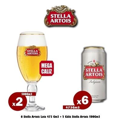 6 Stella Lata + 2 Mega Cáliz