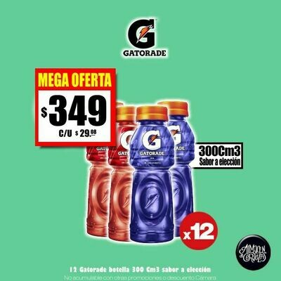MEGA OFERTA - 12 Gatorade 300Cm3