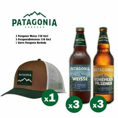 1 Gorra Patagonia + 3 Pat Weisse + 3 Pat Bohemian