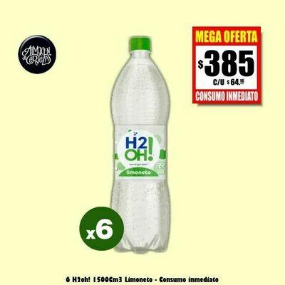 MEGA OFERTA 6 H2oh! Limoneto 1500