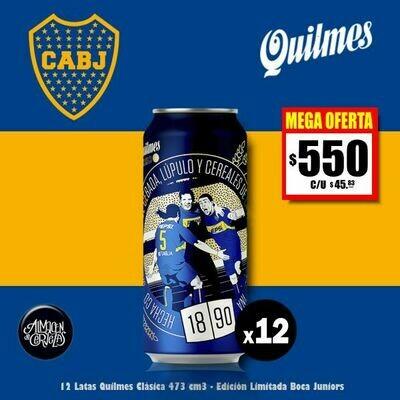 MEGA OFERTA - 12 Latas Quilmes BOCA Clásicas 473Cm3