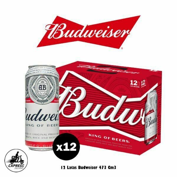 Budweiser Lata 473 Cm3 x12 - Opción Express