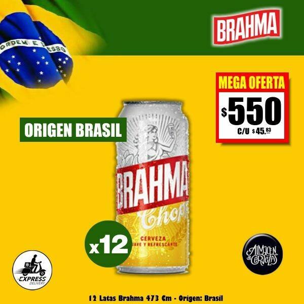 MEGA OFERTA - 12 Latas Brahma 473Cm3 Opción Express