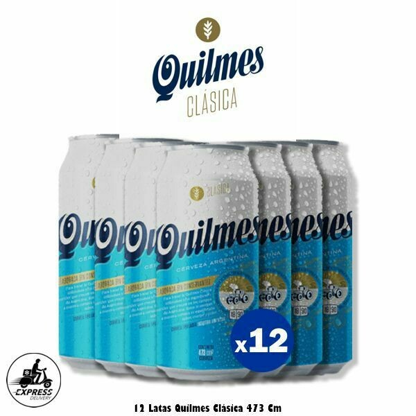 Quilmes Clásica Lata 473cm3 x12 - Opción Express