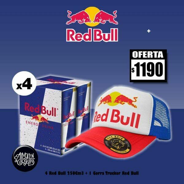 ESPECIAL RED BULL - 4 Red Bull 250Cm3 + Gorra Trucker