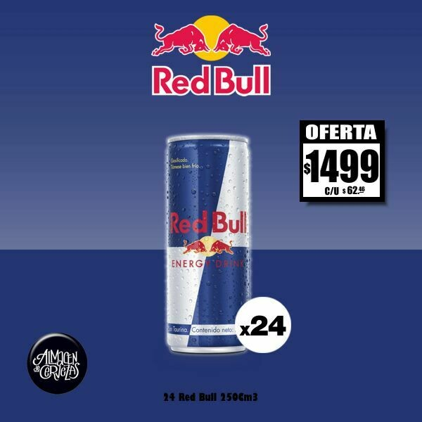 ESPECIAL RED BULL - 24 Red Bull o Red Bull Free