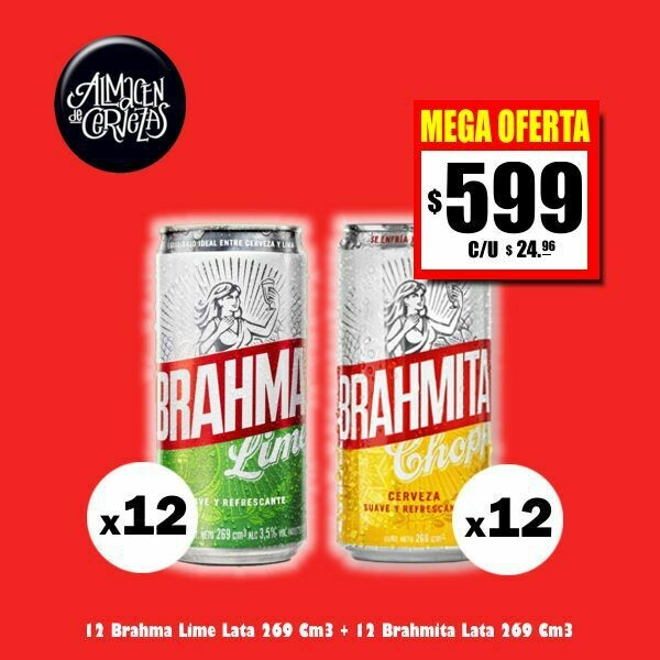MEGA OFERTA - 12 Brahmitas + 12 Brama Lime 269Cm3