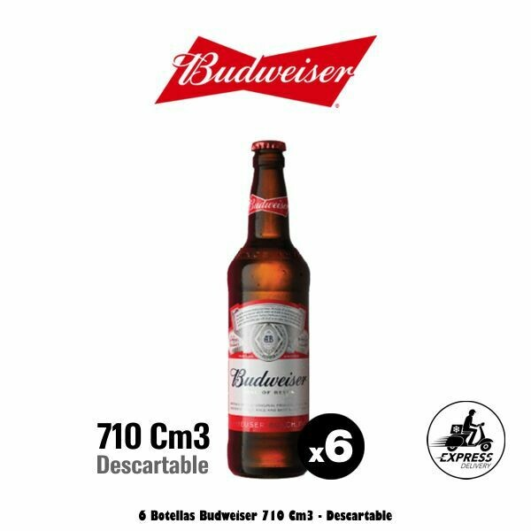 Budweiser 710Cm3 x 6 Descartable - Opción Express