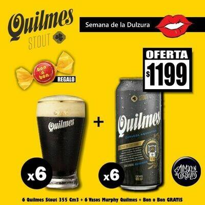 SEMANA DE LA DULZURA - 6 Latas Q.Stout + 6 Vasos Murphy + Bon o Bon
