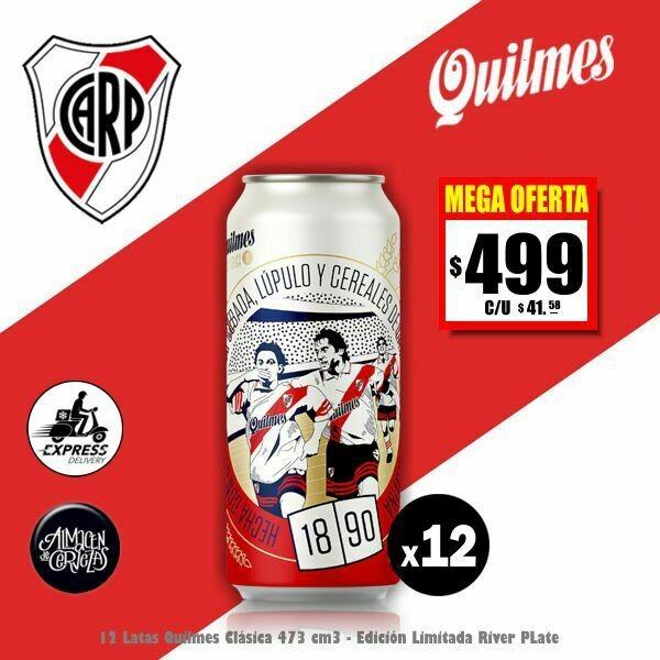 MEGA OFERTA -12 Lata Quilmes RIVER 473Cm3-Opción Express