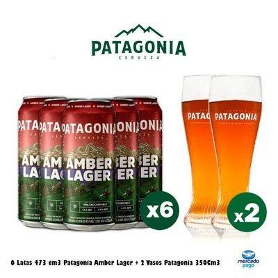Lata Patagonia + Vasos Curvo 300Cc