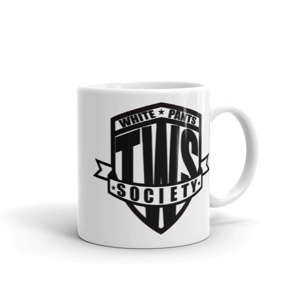 Double logo mug - Black and White