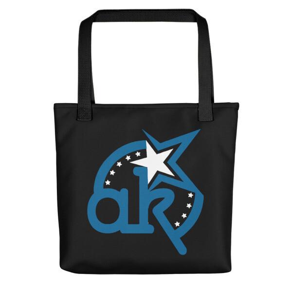 AKSA Logo Blue Tote bag