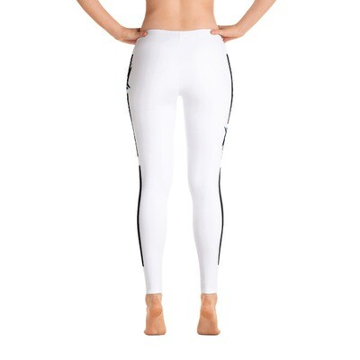 AKSTAR LOGO SM WHITE FITNESS LEGGINGS