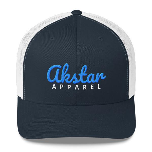 AkStar Signature Nvy/Wht Trucker