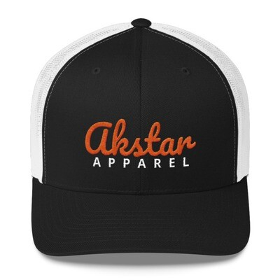 AkStar Signature Blk/Wht Trucker