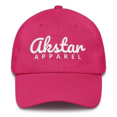 AkStar Signature Ladies Pink Cotton Cap