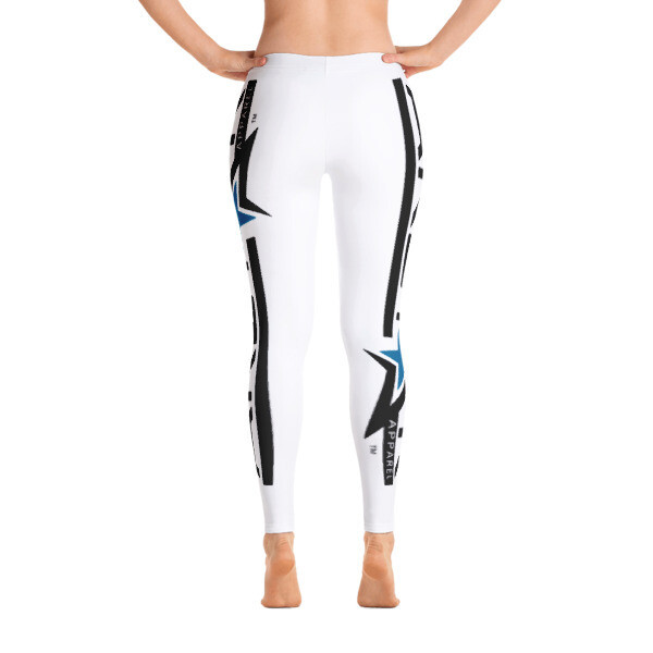 AkStar Logo White Fitness Leggings