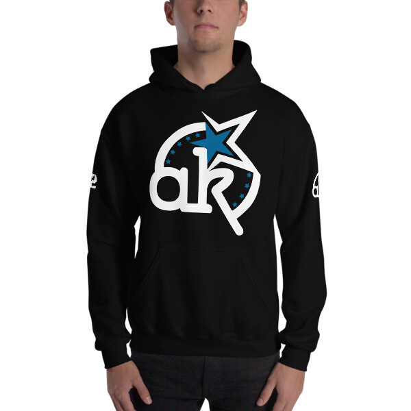 42 AKSA Logo Blk Hooded Sweatshirt
