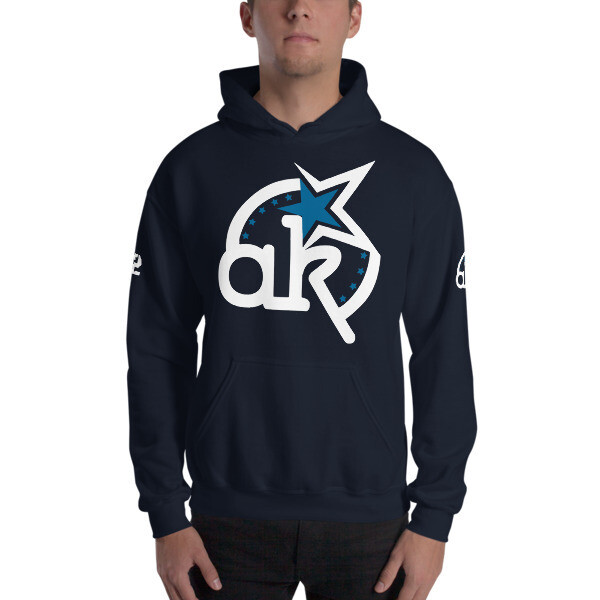 42 AKSA Logo Nvy Hooded Sweatshirt