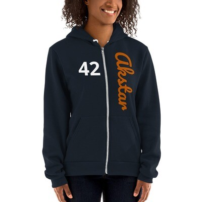 ASKA 42 Hoodie Zip Navy/Orange