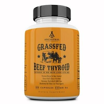 Grassfed Beef Thyroid - Ancestral Supplements