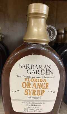 Barbara's Garden Florida Orange Flavored Syrup 12 oz