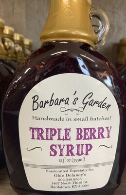 Barbara's Garden Triple Berry Syrup 12 oz