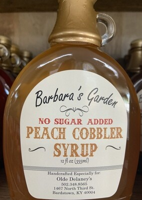 Barbara's Garden No Sugar Added Peach Cobber Syrup 12 oz