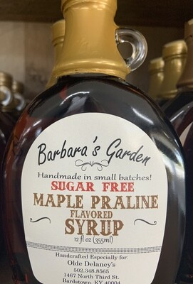 Barbara's Garden Sugar Free Maple Praline Flavored Syrup 12 oz