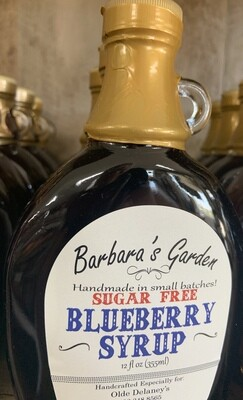 Barbara's Garden Sugar Free Blueberry Syrup 12 oz