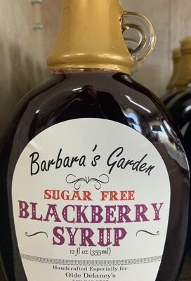 Barbara's Garden Sugar Free Blackberry Syrup 12 oz