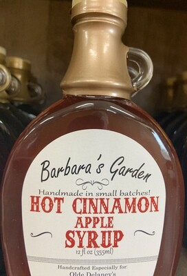 Barbara's Garden Hot Cinnamon Apple Flavored Syrup 12 oz