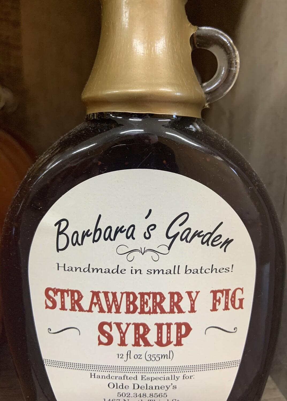 Barbara's Garden Strawberry Fig Syrup 12 oz