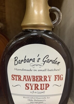 Barbara's Garden Strawberry Fig Syrup 12 oz