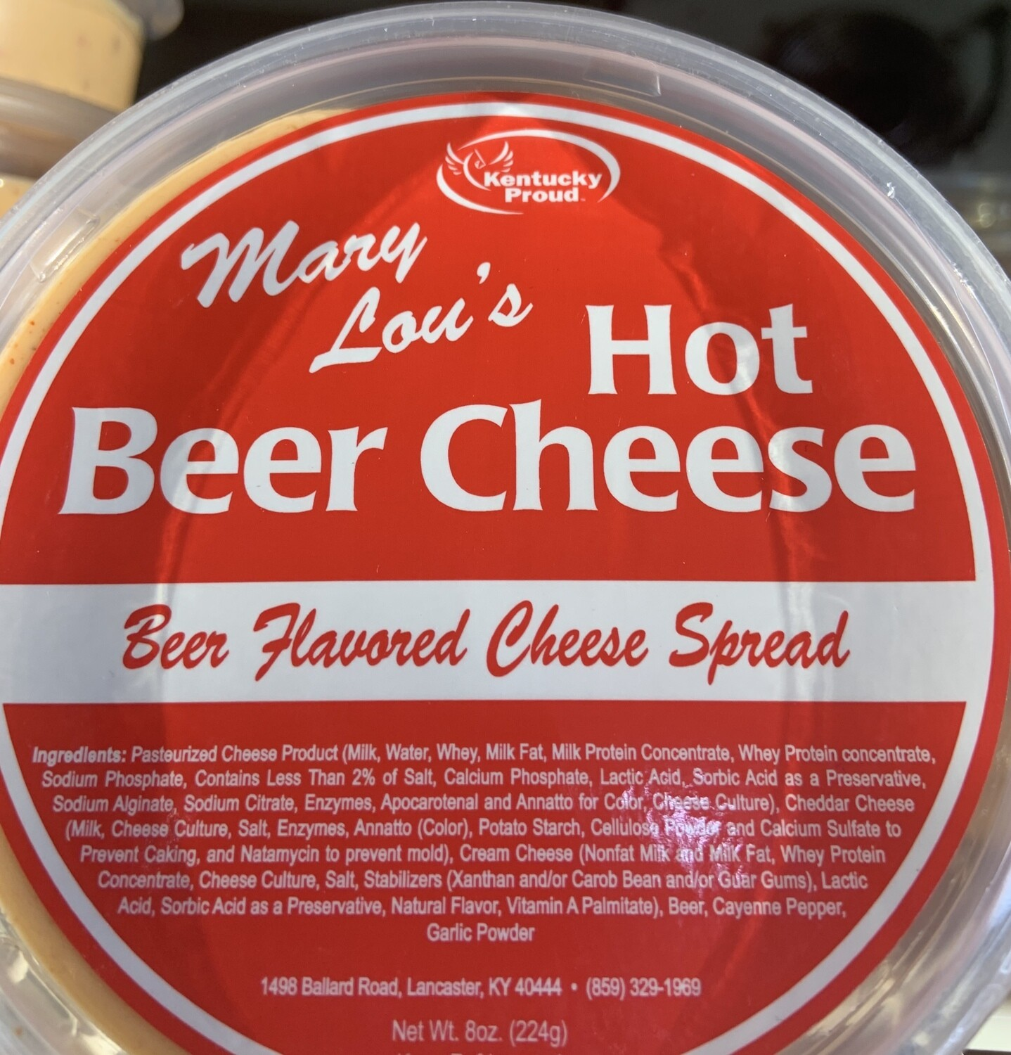 Mary Lou's Hot Beer Cheese 8oz