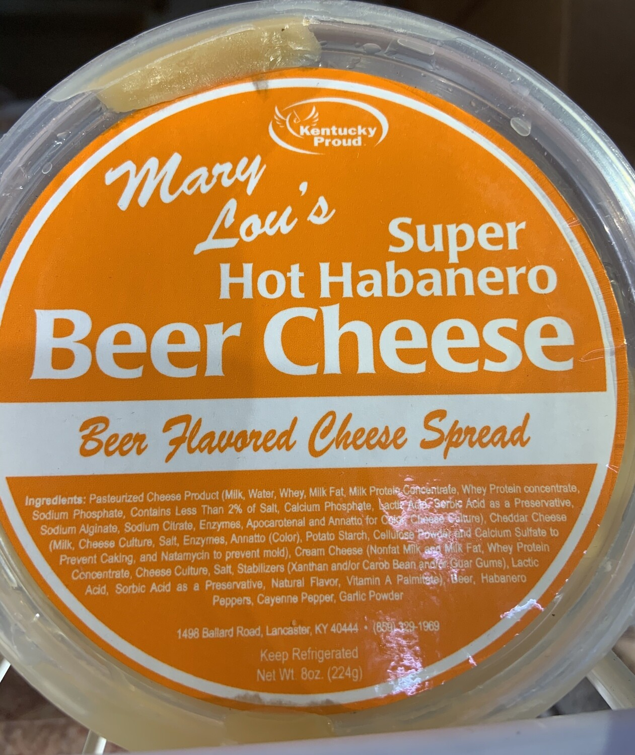 Mary Lou's Super Hot Habanero Beer Cheese 8oz