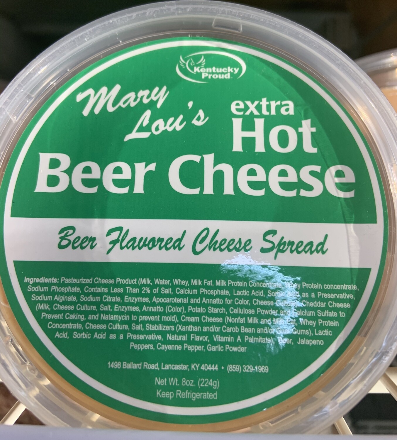 Mary Lou's Extra Hot Beer Cheese 8oz