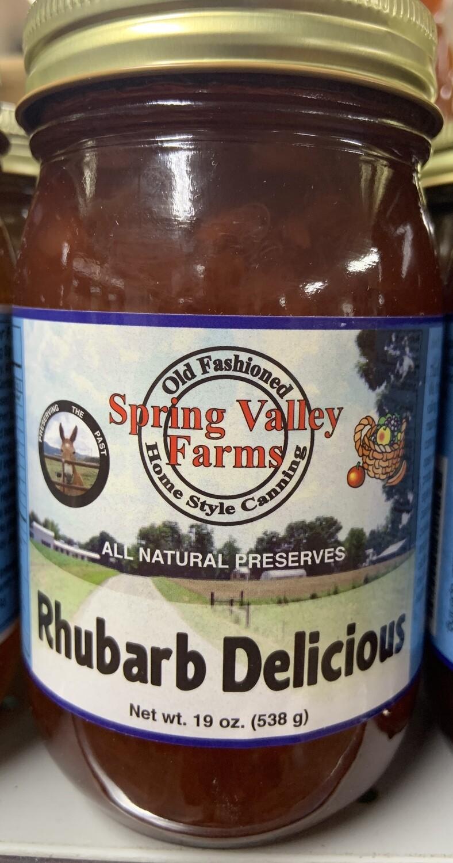 Spring Valley Farms Rhubard Delicious Preserves 19oz