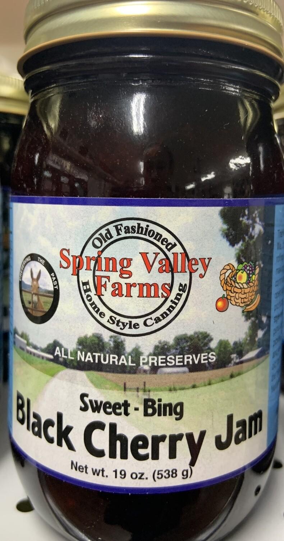 Spring Valley Farms Black Cherry Jam 19oz