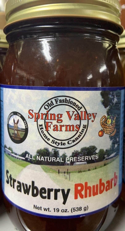 Spring Valley Farms Strawberry Rhubard Preserves 19oz