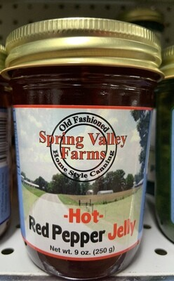 Spring Valley Farms Hot Red Pepper Jelly 9oz