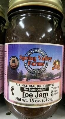 Spring Valley Farms No Sugar Added Fruit Juice Sweetened Toe Jam 19oz