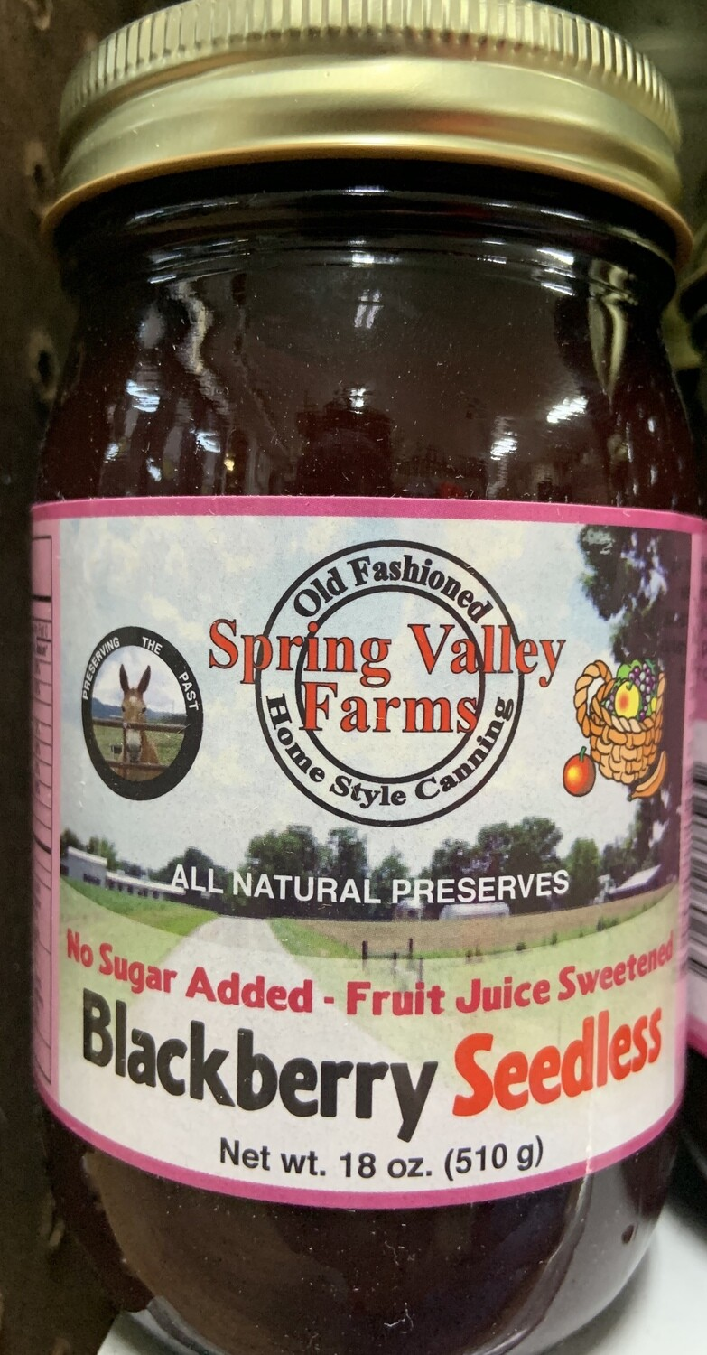 Spring Valley Farms No Sugar Added Fruit Juice Blackberry Seedless19oz