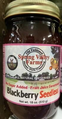 Spring Valley Farms No Sugar Added Fruit Juice Blackberry Seedless19oz