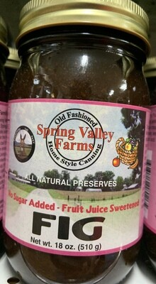 Spring Valley Farms No Sugar Added Fruit Juice Sweetened Fig Jam 19oz